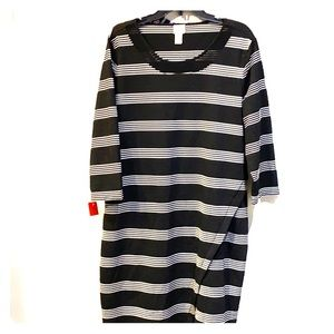 Chico's Black and White Striped Dress Size…